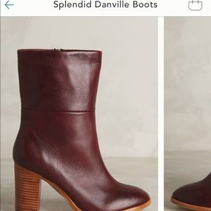 Splendid burgundy boots